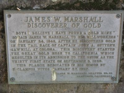 James W. Marshall Marker image. Click for full size.