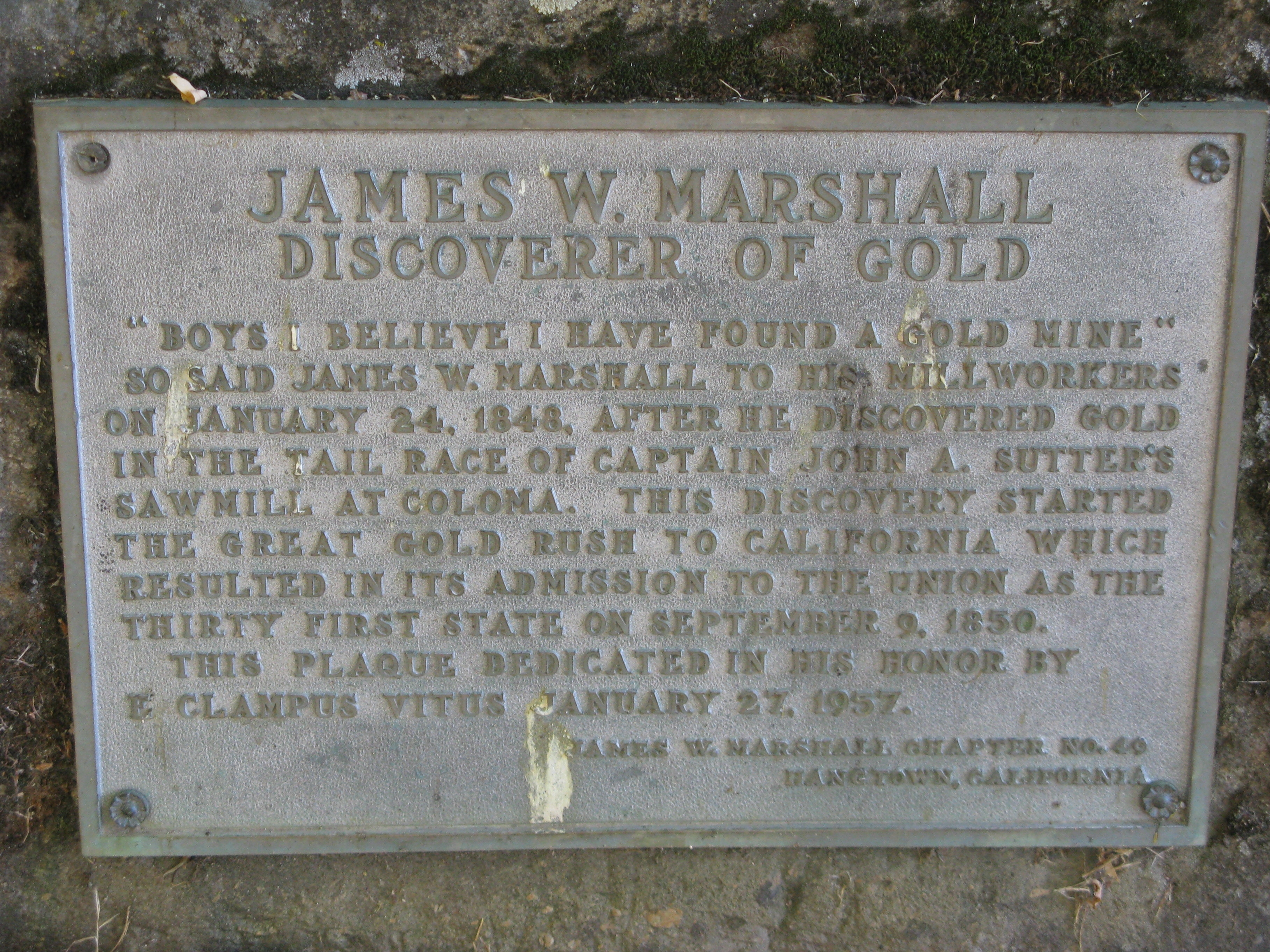 James W. Marshall Marker