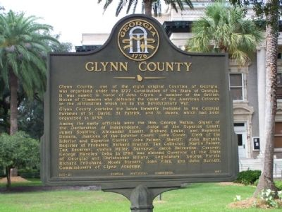 Glynn County Marker image. Click for full size.