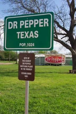 Dr Pepper Texas Marker image. Click for full size.