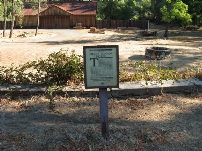 Sierra Nevada House Marker with Well in Background image. Click for full size.
