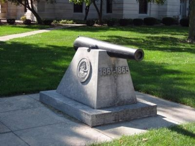 Whitley County Civil War Cannon, near the Marker image. Click for full size.