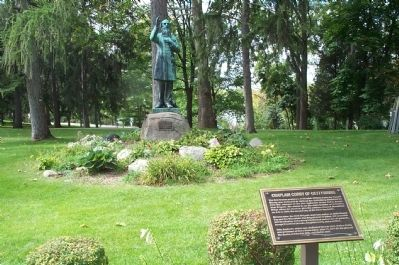 Chaplain Corby of Gettysburg Marker and Statue image. Click for full size.