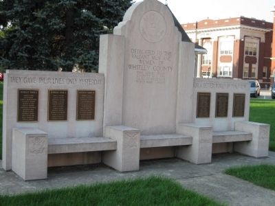 Full View - - Whitley County War Memorial image. Click for full size.