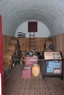 Powder Magazine Interior image. Click for full size.