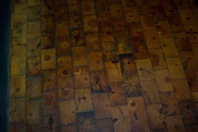 Former Hitching Posts Used for Floor of Black Jack Museum Room image. Click for full size.