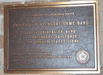 University of Notre Dame Band Marker image. Click for full size.