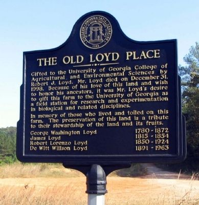 The Old Loyd Place Marker image. Click for full size.