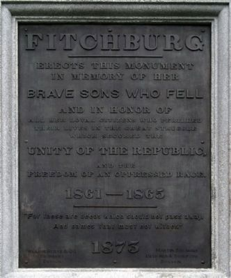 Fitchburg Civil War Memorial Marker image. Click for full size.