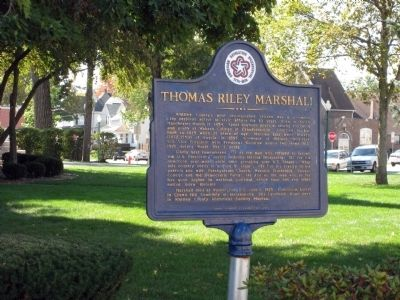 Wider View - Thomas Riley Marshall Marker image. Click for full size.