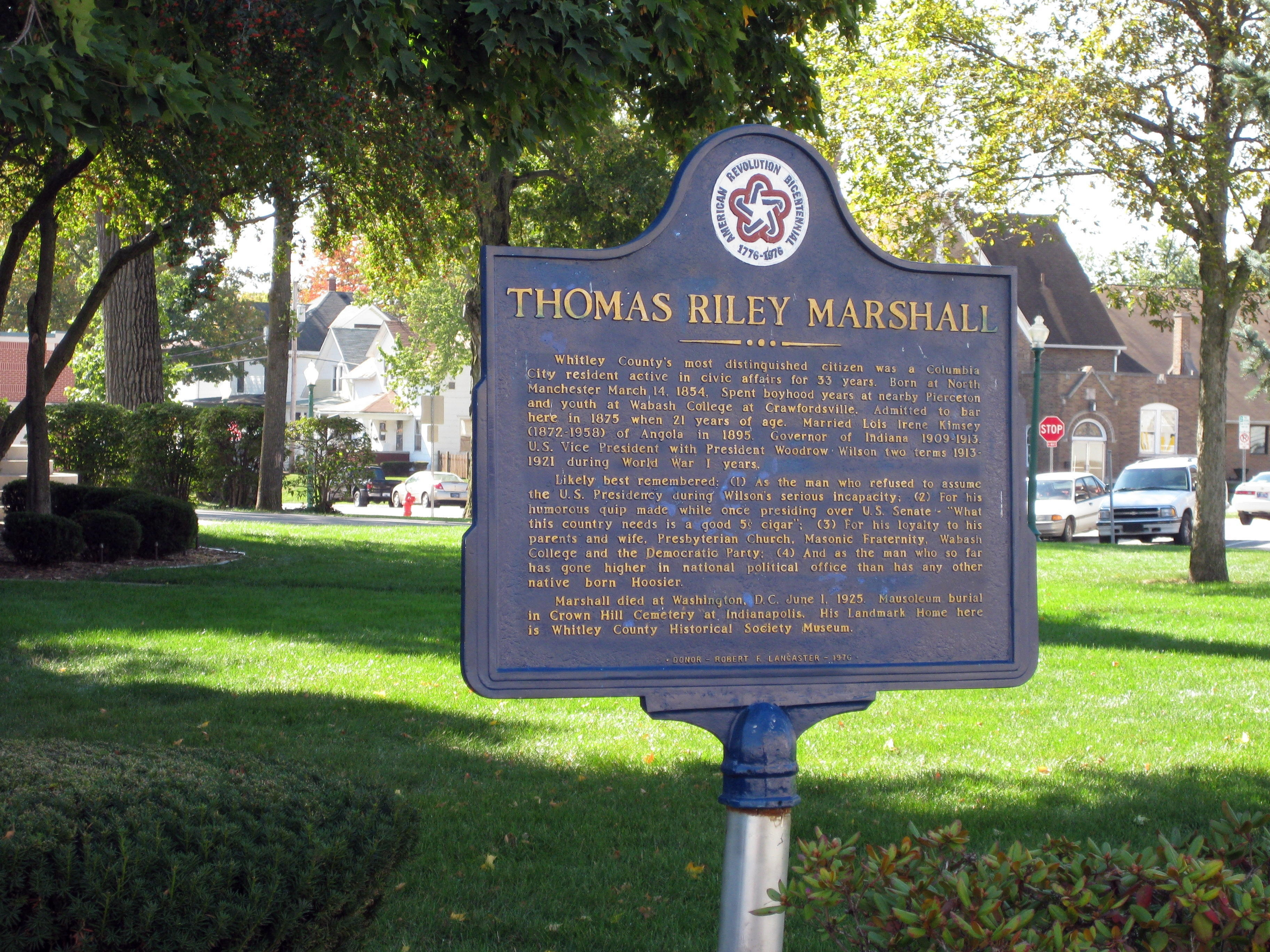 Wider View - Thomas Riley Marshall Marker