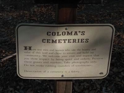 Coloma's Cemeteries image. Click for full size.
