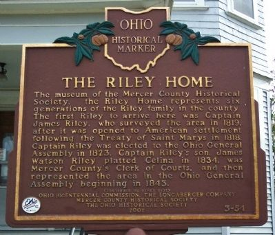 The Riley Home Marker (Side A) image. Click for full size.