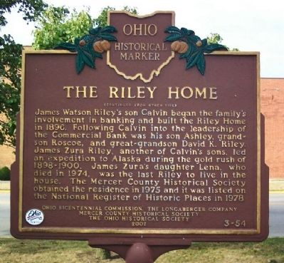 The Riley Home Marker (Side B) image. Click for full size.