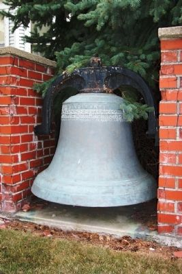 Mercer County Courthouse Bell image. Click for full size.