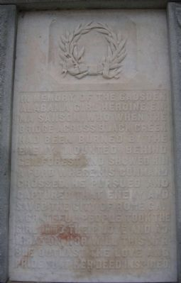 Gadsden Confederate Memorial Marker-Emma Sansom image. Click for full size.