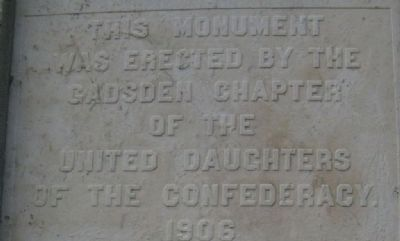 Gadsden Confederate Memorial Marker Erected By image. Click for full size.