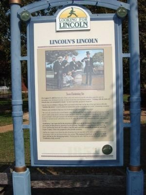 Full View - - Lincoln's Lincoln Marker image. Click for full size.