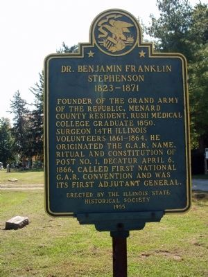 Dr. Benjamin Franklin Stephenson Marker image. Click for full size.