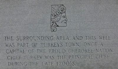 Turkey Town Monument Marker - Chief Turkey image. Click for full size.