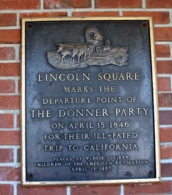 Departure Point of The Donner Party Marker image. Click for full size.