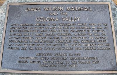 James Wilson Marshall Marker image. Click for full size.