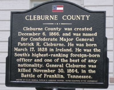 Cleburne County Marker image. Click for full size.