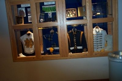 Notre Dame Band Uniforms past and present image. Click for full size.