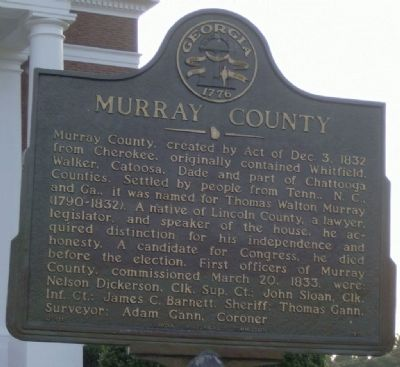 Murray County Marker image. Click for full size.