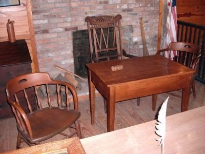 The Judge's Table & Witness Chair. image. Click for full size.