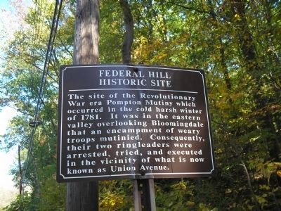 Federal Hill Historic Site Marker image. Click for full size.