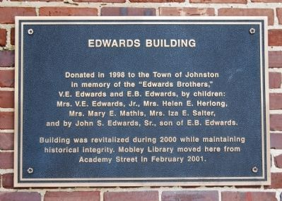 Edwards Building Marker image. Click for full size.