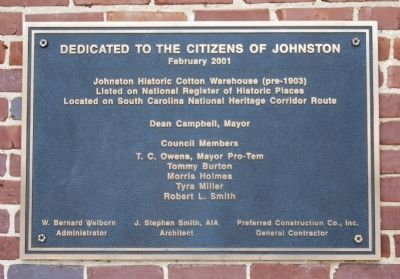 Edwards Building Dedication Plaque image. Click for full size.