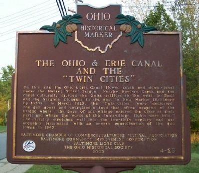 "The Ohio & Erie Canal and the ""Twin Cities"" image. Click for full size."