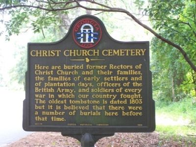 Christ Church Cemetery Marker image. Click for full size.