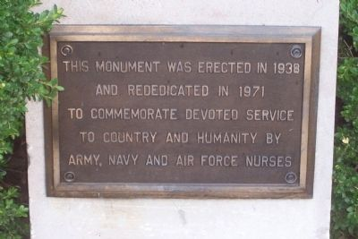 Army, Navy, and Air Force Nurses Marker image. Click for full size.