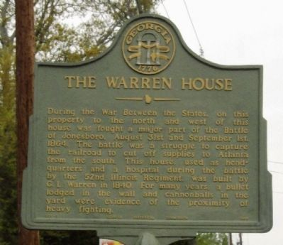The Warren House Marker image. Click for full size.