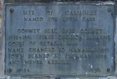 Site of Cassville Marker image. Click for full size.