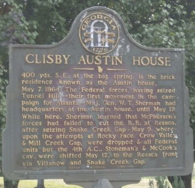 Clisby Austin House Marker image. Click for full size.
