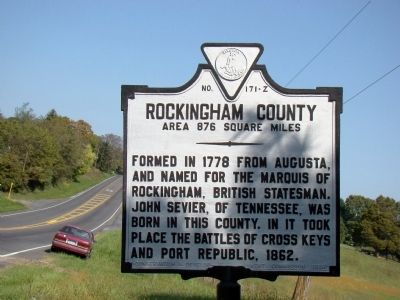 Rockingham County face of Marker image. Click for full size.