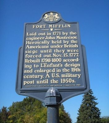 Fort Mifflin Marker image. Click for full size.