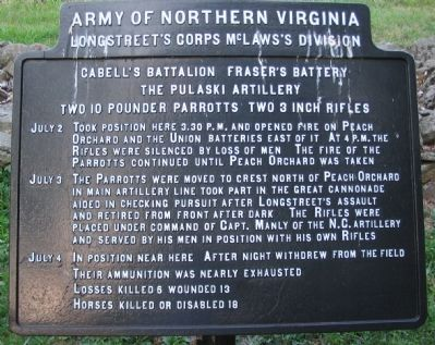 Cabell's Battalion - Fraser's Battery Tablet image. Click for full size.