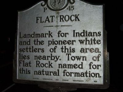 Flat Rock Marker image. Click for full size.