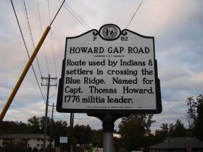 Howard Gap Road Marker image. Click for full size.