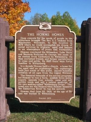 The Homme Homes Marker image. Click for full size.