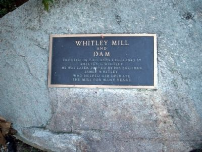 Whitley Mill and Dam Marker image. Click for full size.