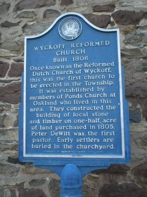 Wyckoff Reformed Church Marker image. Click for full size.