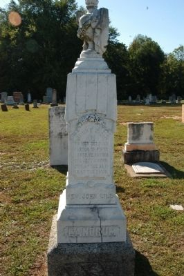 Grave marker for Rev. John Gill Landrum image. Click for full size.