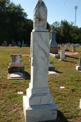 Grave marker for J.B.O. Landrum image. Click for full size.