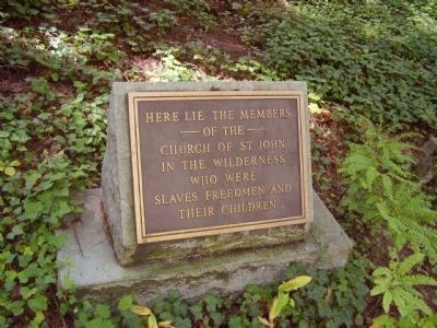 Cemetery Marker at St. John in the Wilderness image. Click for full size.